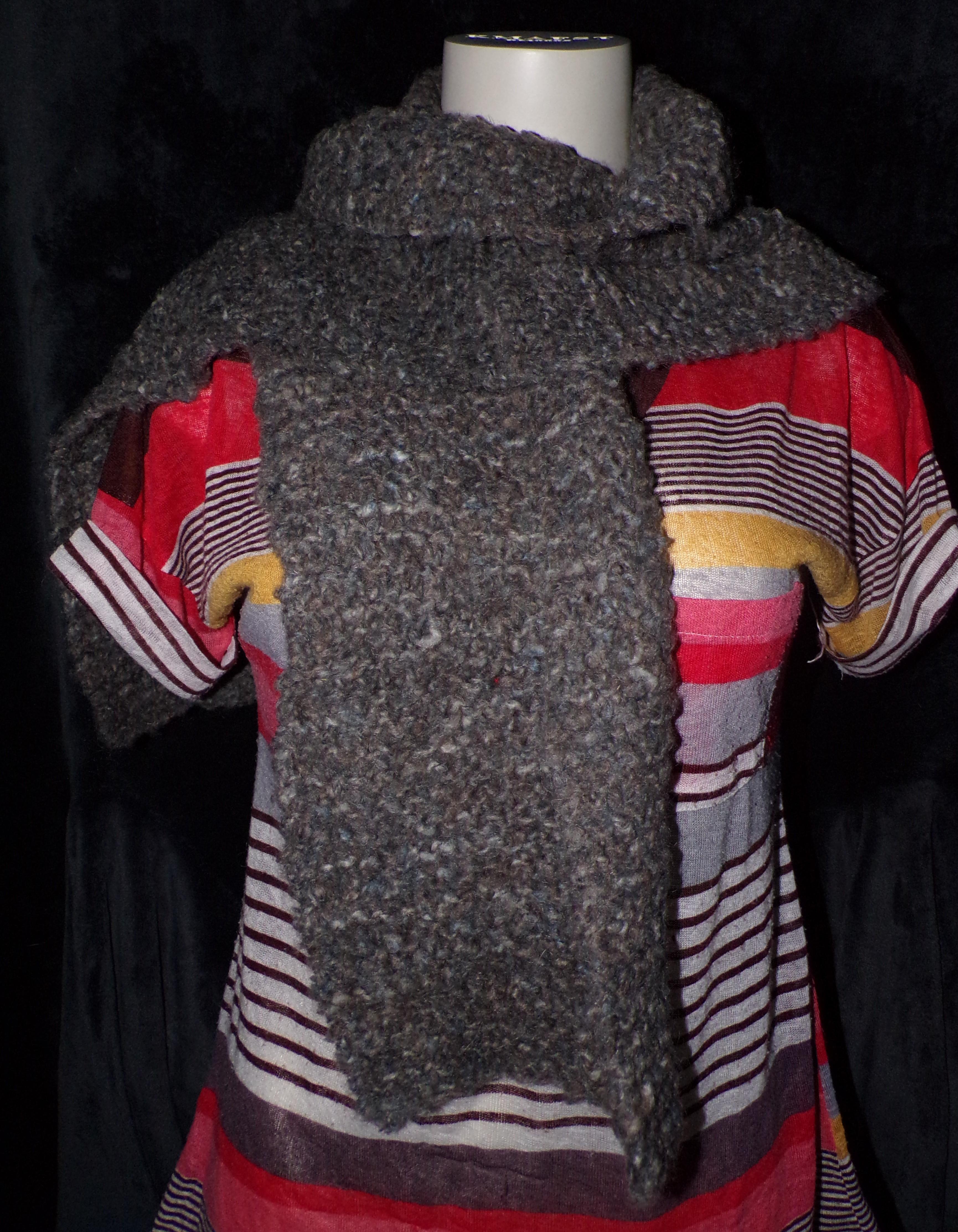 echarpe-tricot-marron